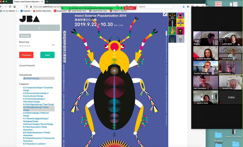Joseph Binder Award 2020: Die virtuelle Übersicht der Jury zu einzelnen Wettbewerbseingaben.