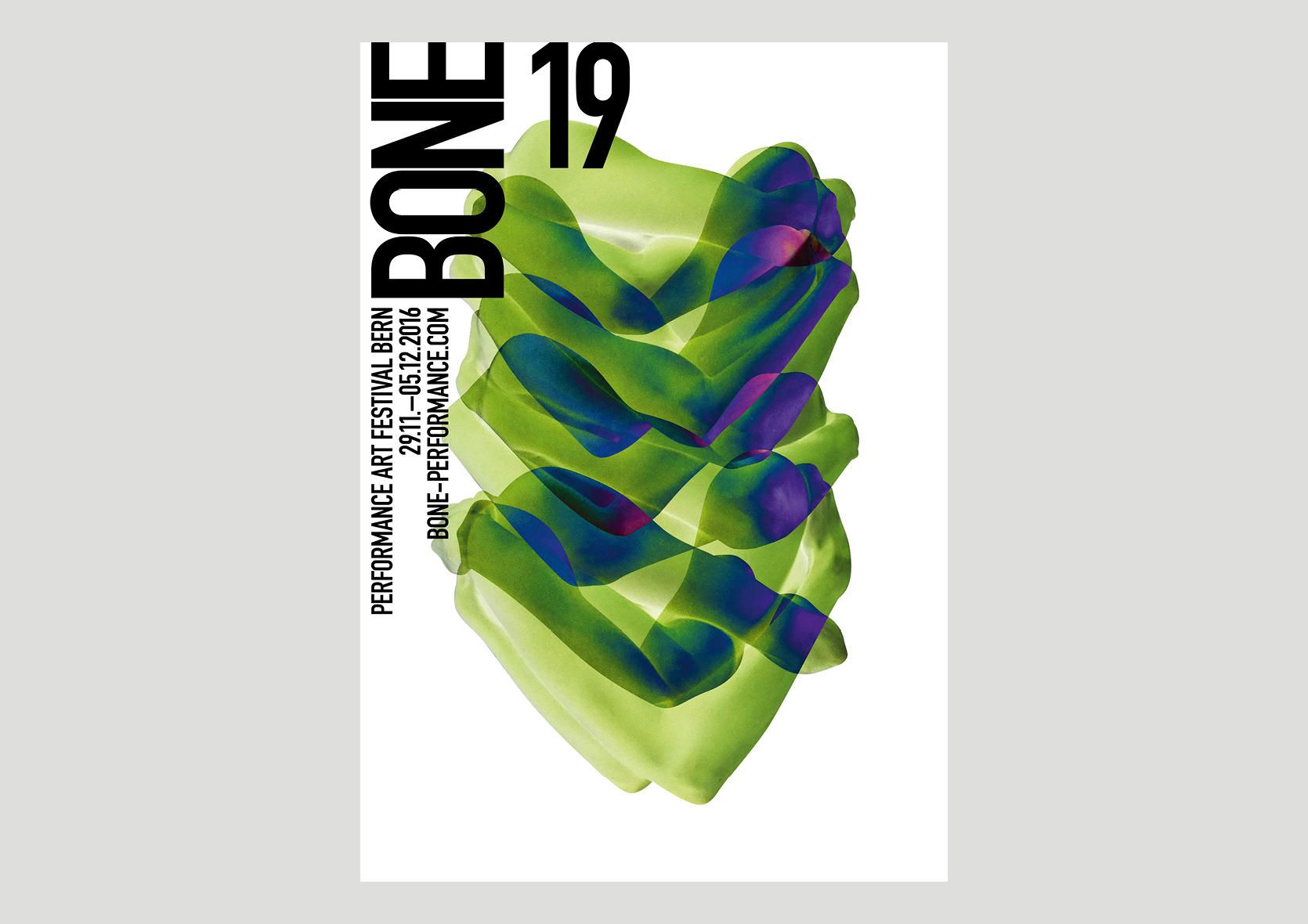 Plakat Bone Performance Art Festival