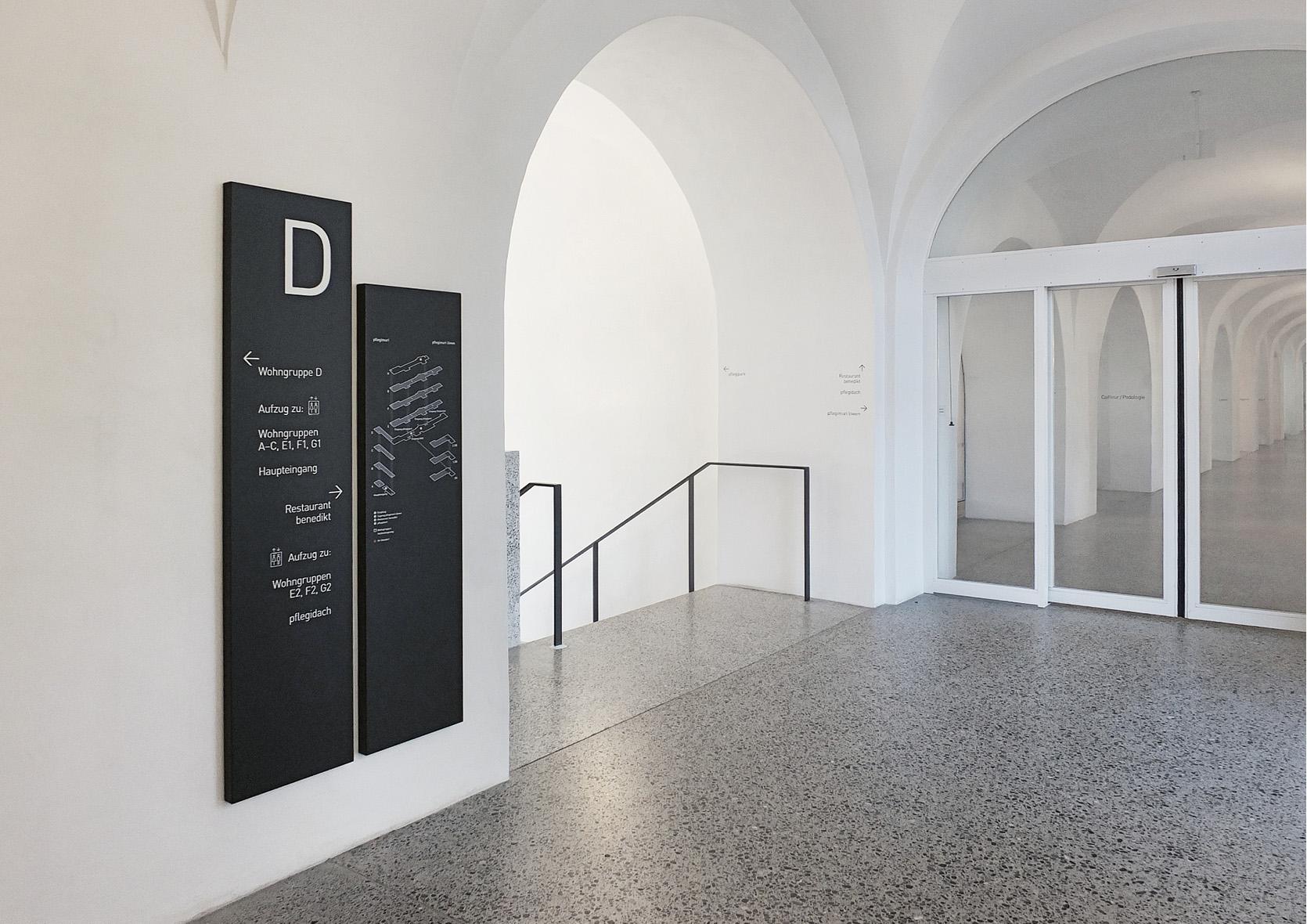 Perspektiven Showcase Definitiv Design, Signaletik